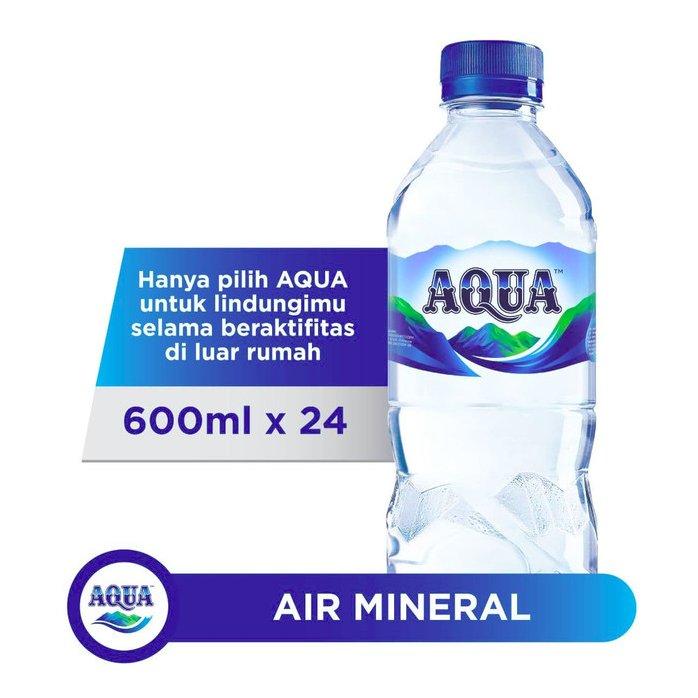 AQUA Air Mineral 600ml (1 dus isi 24 botol)