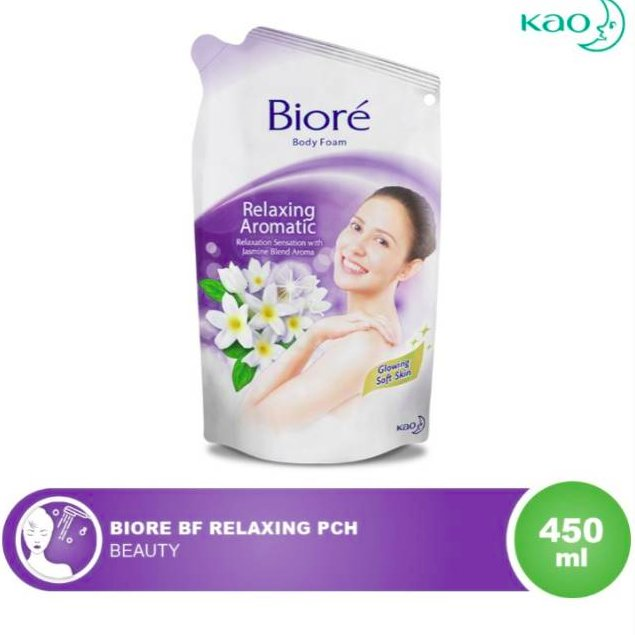 Biore Body Foam Relaxing Aromatic Pouch 450ml