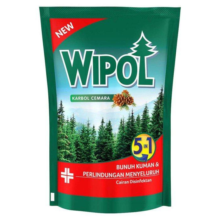 Wipol Pembersih Lantai Cemara 780Ml Free Disinfektan Wipes 10s