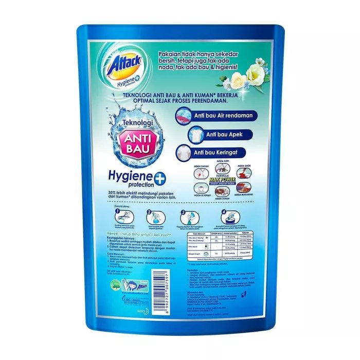 Attack Hygiene Plus Protection Liquid 1200 ML